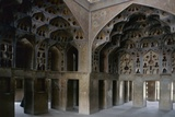 Music Room in the Ali Qapu Palace  Isfahan  Iran 17th C the Solids and Voids Create a Sound Box