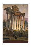 Ruins of Temple of Saturn in Roman Forum  1841