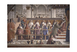 St Francis Receiving the Rule by Pope Onorio III
