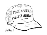 Make America White Again - Cartoon