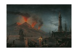 Eruption of Vesuvius by Charles Francois Lacroix De Marseille  18th C