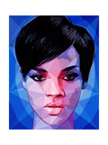 Rihanna Reproduction d'art par Enrico Varrasso