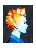Girl with Mohawk Reproduction d'art par Enrico Varrasso