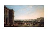 Ferdinand Iv on Horseback and His Entourage in Capodimonte  Naples