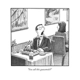 A man yelling loudly  complaining in a sushi restaurant  - New Yorker Cartoon