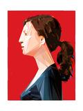 Woman with Ponytail Reproduction d'art par Enrico Varrasso