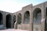 Friday Mosque  Nayin  Iran  10th C Arcade of Yard with Brickwork Decoration