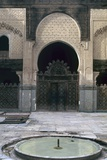 Bou Inaniyya Madrasa  1350-55  Fez  Morocco  Horseshoe Arch with a Gate