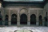 Bou Inaniyya Madrasa  1350-55  Fez  Morocco  Horseshoe Arches on Courtyard with Ablution Pool