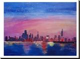 Chicago Sunset Blue