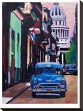 Cuban Oldtimer Street Scene In Havanna Cuba With Buena Vista Feelinng