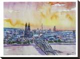 Cologne Deutz Bridge Sunset