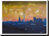 Hamburg Skyline Dusk 2