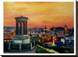 Edinburgh Scotland Skyline With Arthurs Seat