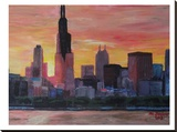 Chicago Sunset Red