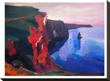 Cliffs Of Moher In County Clare Ireland At Sunset Aillte An Mhothair
