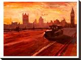 London Bus Dusk