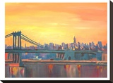 Blue Manhattan Skyline With Bridge And Vanilla Sky 2