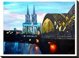 Cologne - Kolner Dom mit Hohenzollernbrucke