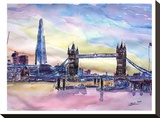 London England The Shard And Tower Bridge 2