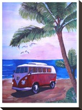Surf Bus Under Palms At Dream Beach Spot