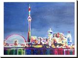 Toronto Neon Shimmering Skyline