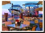 San Juan Cafe Terrace With Cruise Ships