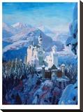 Neuschwanstein In Winter-Blau2