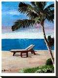 Strand Chairs On Caribbean Beach Or