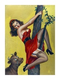 Mid-Century Pin-Ups - Moo - Up a tree