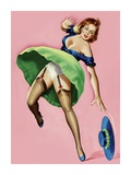 Mid-Century Pin-Ups - Wink Magazine - Strong Wind