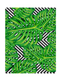 Seamless Pattern of Leaves Monstera Reproduction d'art par Mary_stocker