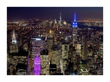 Midtown and Lower Manhattan at night