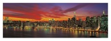 Sunset over New York (detail)
