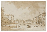 View of Campo San Polo  Venice  ca 1790