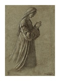 Study of the Virgin (recto); Study of the Virgin and of Hands (verso)