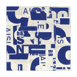 Collaged Letters Blue C