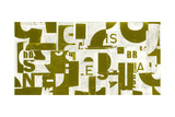 Collaged Letters Gold B