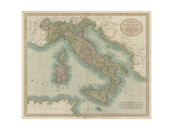 Vintage Map of Italy
