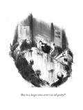"""But in a larger sense aren't we all guilty"" - New Yorker Cartoon"