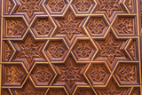 Carved Star of David in the Door of the Holy Ark in the Neve Shalom Synagogue in Casablanca