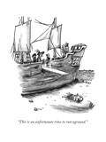 """This is an unfortunate time to run aground"" - New Yorker Cartoon"