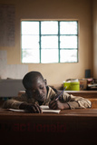 A Young Boy Studies at a School in Daaba  Kenya Built by an American Non-Profit