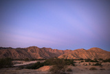 Sunrise on Mountains West of the Laguna Grande Restoration Project Along the Colorado River Delta
