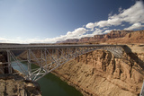 The Historic Navajo Bridge Spanning the Colorado River and Marble Canyon Near Lee's Ferry  Arizona