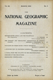 Cover of the March  1900 National Geographic Magazine