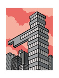 A building points that way - Cartoon