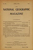Cover of the April  1900 National Geographic Magazine