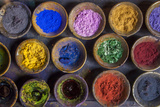 At the Marrakech Medina  Colored Powder Dyes Used in Fabric Dyeing