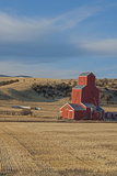 A Grain Elevator Stands Amid Fallow Wheat Fields in the Gallatin Valley  North of Bozeman